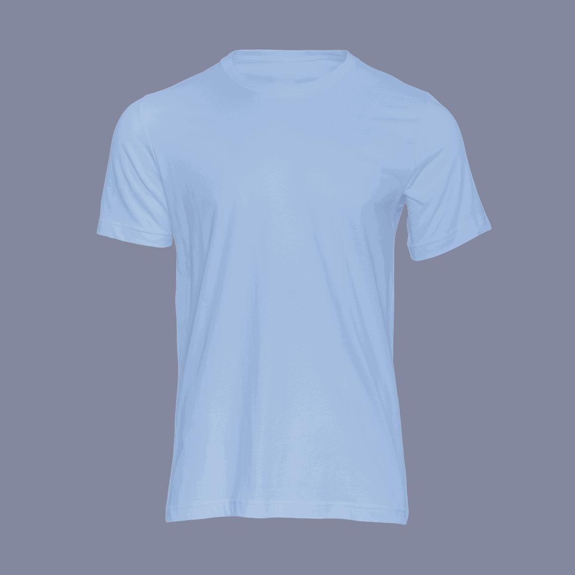 t shirt unisex lichtblauw