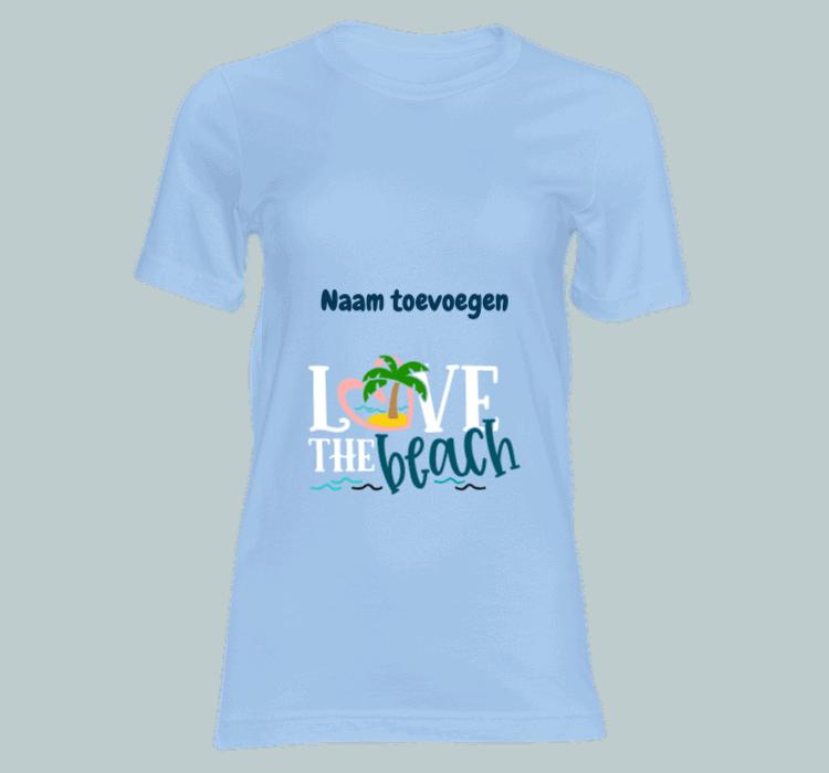 dames t shirt love the beach t