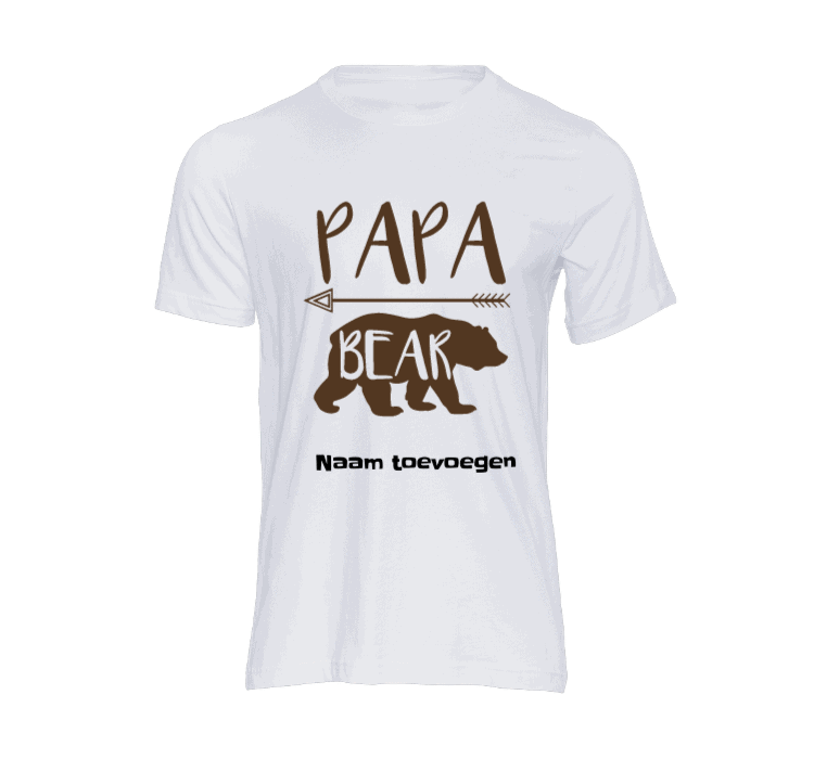 heren t shirt papa bear t